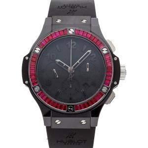 Hublot Black Ruby Baguette Ceramic Big Bang Chronograph 301.CD.134.RX.192 Men's Wristwatch 44 MM