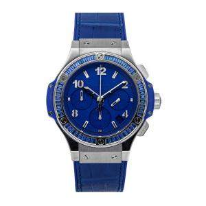 Hublot Blue Baguette Sapphire Stainless Steel Big Bang Tutti Frutti 341.SL.5190.LR.1901 Men's Wristwatch 41 MM
