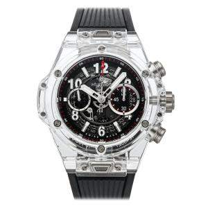 Hublot Black Sapphire Crystal Big Bang Unico Limited Edition 411.JX.117.RX Men's Wristwatch 45 MM