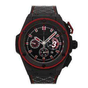 Hublot Black Ceramic King Power Dwayne Wade Limited Edition 703.CI.1123.VR.DWD11 Men's Wristwatch 48 MM