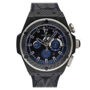 Hublot Black/Blue Carbon Fibre King Power F1 Interlagos Limited Edition 703.QM.1129.HR.FIL11 Men's Wristwatch 48 MM