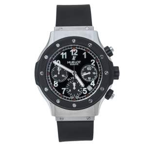 Hublot Black Rubber and Stainless Steel Super B Flyback 1926.10 Men's Wristwatch 42 mm