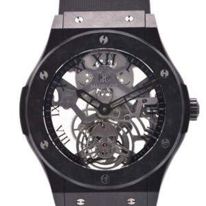 Hublot Black Aluminum And Rubber Classic Fusion 505.UC.0140.LR.SKULL Men's Wristwatch 45 MM