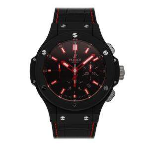 Hublot Black Ceramic Big Bang Chronograph 301.CI.1123.GR Men's Wristwatch 44 MM