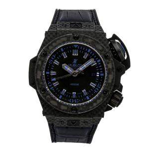 Hublot Black Carbon Fiber King Power Oceanographic 4000 Limited Edition 731.QX.1190.GR.ABB12 Men's Wristwatch 48 MM