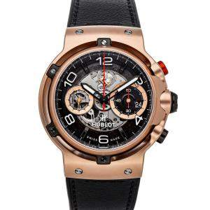 Hublot Black 18K Rose Gold Classic Fusion Ferrari GT King Gold Limited Edition 526.OX.0124.VR Men's Wristwatch 45 MM