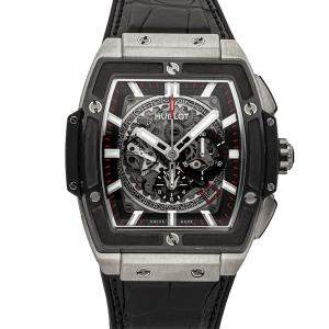 Hublot Black Ceramic And Titanium Spirit of Big Bang 601.NM.0173.LR Men's Wristwatch 40 MM