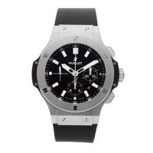 Hublot Black Stainless Steel Big Bang Chronograph 301.SX.1170.RX Men's Wristwatch 44 MM