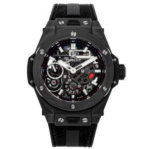 Hublot Black Ceramic Big Bang Meca-10 Black Magic 414.CI.1123.RX Men's Wristwatch 45 MM