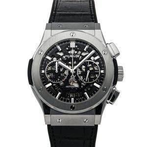 Hublot Black Titanium Classic Fusion Aero Chronograph 525.NX.0170.LR Men's Wristwatch 45 MM