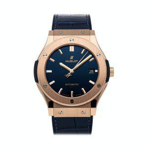 Hublot Blue 18K Rose Gold Classic Fusion Blue King Gold 511.OX.7180.LR Men's Wristwatch 45 MM