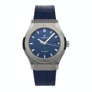 Hublot Blue Titanium Classic Fusion 542.NX.7170.LR Men's Wristwatch 42 MM