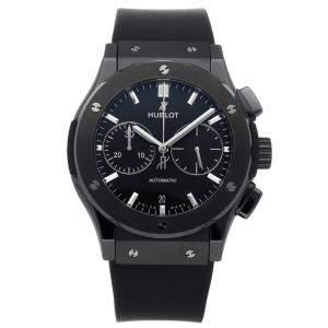 "Hublot Black Ceramic ""Black Magic"" Classic Fusion Chronograph 521.CM.1171.RX Men's Wristwatch 45 MM"