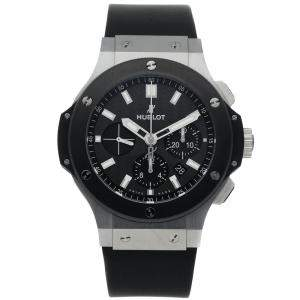 Hublot Black Stainless Steel Big Bang Chronograph 301.SM.1770.RX Men's Wristwatch 44 MM