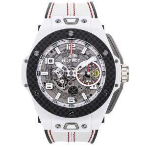 Hublot Gray Ceramic Big Bang Unico Ferrari Limited Edition 401.HQ.0121.VR Men's Wristwatch 45 MM