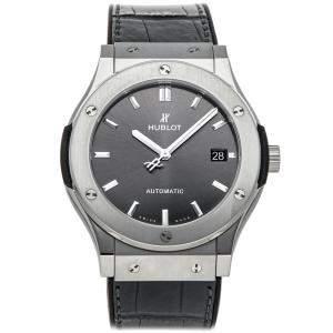 Hublot Black Titanium Classic Fusion 511.NX.7071.LR Men's Wristwatch 45 MM
