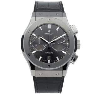 Hublot Grey Titanium Classic Fusion Racing Grey Chronograph 521.NX.7071.LR Men's Wristwatch 45 MM