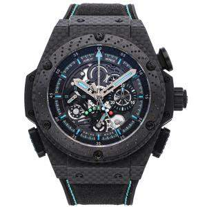 Hublot Black Carbon Fiber King Power F1 Abu Dhabi Limited Edition 719.QM.1729.NR.FAD11 Men's Wristwatch 48 MM