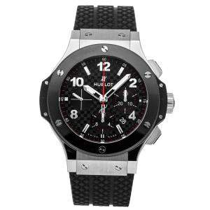 Hublot Black Stainless Steel And Ceramic Big Bang Steel Ceramic Chronograph 301.SB.131.RX Men's Wristwatch 44 MM
