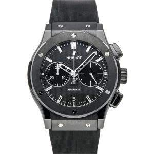 """ساعة يد رجالية هوبلو """"كلاسيك فوجين كرونوغراف 521.سي إم.1770.أر اكس"""" سيراميك رصاصية 45 مم"""