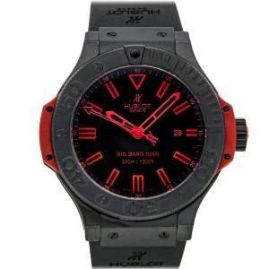 ساعة يد رجالية هوبلو 322.CI.1130.GR.ABR10 بيغ بانغ كينغ إصدار محدود سيراميك أحمر/أسود 48مم