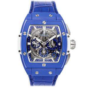 Hublot Blue Ceramic Spirit of Big Bang Chronograph Limited Edition 641.EX.5129.LR Men's Wristwatch 42 MM