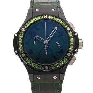 ساعة يد رجالية هوبلو بيغ بانغ توتي فروتي كرونوغراف 341.CV.5290.LR.1917 سيراميك زرقاء 41مم