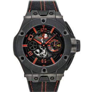 ساعة يد رجالية هوبلو كاربون فايبر بيغ بانغ يونيكو فيراري 402.QU.0113.WR حمراء 45مم