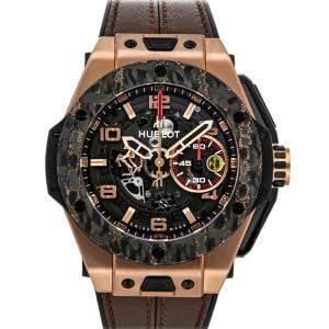 ساعة يد رجالية هوبلو يونيكو فيراري بيغ بانغ غولد إصدار محدود 401.OJ.0123.VR ذهب وردي عيار 18 رصاصية 45مم