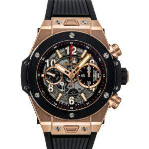 Hublot Grey 18K Rose Gold Big Bang Unico King Gold 411.OM.1180.RX Men's Wristwatch 45 MM