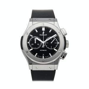 Hublot Black Titanium Classic Fusion Chronograph 521.NX.1171.RX Men's Wristwatch 45 MM
