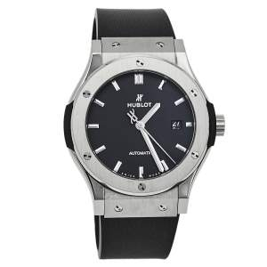 Hublot Black Titanium & Stainless Steel Classic Fusion 542.NX.1171.RX Men's Wristwach 42 mm