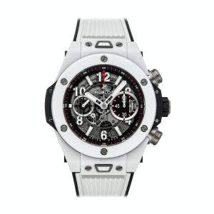 Hublot Grey Ceramic And Titanium Big Bang Unico 411.HX.1170.RX Men's Wristwatch 45 MM