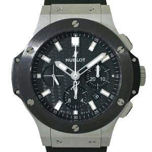 Hublot Black Stainless Steel And Ceramic Big Bang 301.SM.1770.R Men's Wristwatch 44 MM