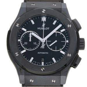 Hublot Black Ceramic Classic Fusion Chronograph Black Magic 521.CM.1171.R Men's Wristwatch 45 MM