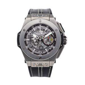Hublot Grey Titanium Ferrari Big Bang Ferrari Unico Limited Edition 401.NX.0123.VR Men's Wristwatch 45 MM