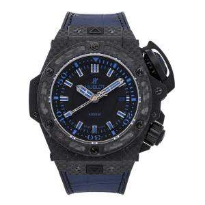 Hublot Blue Carbon Fiber King Power Oceanographic 4000 Limited Edition 731.QX.1190.GR.ABB12 Men's Wristwatch 48 MM