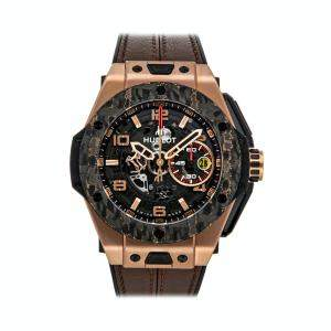 Hublot Black Rose Gold Big Bang Unico Ferrari King Gold Limited Edition 401.OJ.0123.VR Men's Wristwatch 45 MM