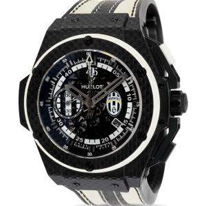 Hublot Black Carbon Fiber King Power Juventus 716.QX.1121.VR.JUV13 Men's Wristwatch 48 MM