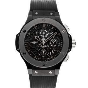 Hublot Black Ceramic Big Bang Aero Bang Morgan Limited Edition 310.CK.1140.RX.MOR08 Men's Wristwatch 44 MM