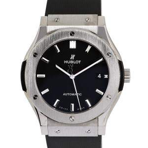 Hublot Black Titanium Classic Fusion Men's Wristwatch 45 MM