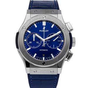 Hublot Blue Titanium Classic Fusion Chronograph 521.NX.7170.LR Men's Wristwatch 45 MM