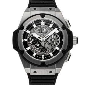 Hublot Grey Titanium Big Bang King Power Unico Chronograph 701.NX.0170.RX Men's Wristwatch 48 MM