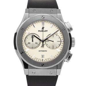Hublot Silver Titanium Classic Fusion Chronograph 521.NX.2611.RX Men's Wristwatch 45 MM