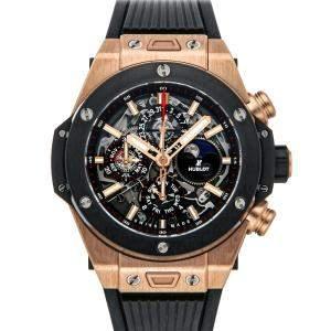Hublot Black 18 Rose Gold Big Bang Unico Perpetual Calendar 406.OM.0180.RX Men's Wristwatch 45 MM
