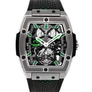 Hublot Grey Titanium MP-06 Senna Tourbillon Limited Edition 906.NX.0129.VR.AES13 Men's Wristwatch 43 x 45 MM