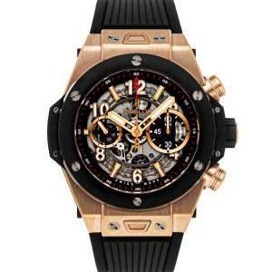 Hublot Black 18K Rose Gold Big Bang Unico King Gold 411.OM.1180.RX Men's Wristwatch 45 MM