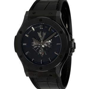 "Hublot Black Ceramic Classic Fusion ""Shawn Carter"" 515.CM,1040.LR.SHC13 Men's Wristwatch 45 MM"