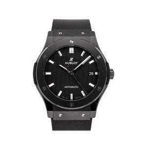 Hublot Black Ceramic Classic Fusion 511.CM.1771.RX Men's Wristwatch 45 MM