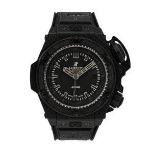 Hublot Black Carbon Fiber King Power Oceanographic 4000 Limited Edition 731.QX.1140.RX Men's Wristwatch 48 MM
